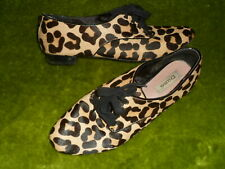 DUNE LEOPARD SKIN LOOK LACE UP  LEATHER  LOW HEELS  SHOES UK 8 / 41