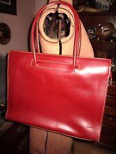 Soft LODIS Slim Burgundy Leather SATCHEL Briefcase ORGANIZATIONAL Zip Handbag