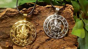 Ganesh mandala Om Hindu boho Goa hippy Indian necklace pendant