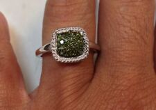 1/2 ct Green Diamond Ring in 10K White Gold