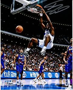 "Shaquille O'Neal Orlando Magic Autographed 8"" x 10"" Dunk vs. Toronto Raptors"