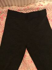 💖M&S COLLECTION SIZE 16 BLACK FLORAL EMBOSSED LEGGINGS BNWOT LONG 💖