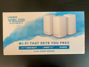 Linksys Velop AC3900 Dual Band Wifi Netting System - 3 Pieces - Gently Used