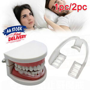 1/2pcs Bruxism Guard Grinding Teeth Protector Night Mouth Sleep Dental Tooth