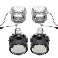"Safego 2X 2.5"" Bi Xenon HID Bixenon headlight Projector Lens H1 CCFL Angel Eye"