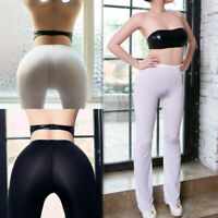 Women's Yoga Sport Pants Sheer Legging Gym Running Fitness Skinny Trouser Pants