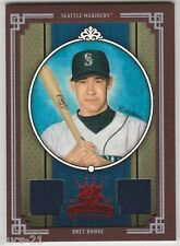 2005 DIAMOND KINGS BRET BOONE GAME WORN USED RED FRAME CARD #204 NUMBERED 51/100