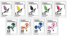 TURKEY 2017, MOTIF THEMED OFFICIAL POSTAGE STAMPS-2, FLOWERS, MNH
