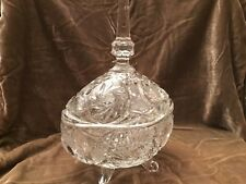 Vintage LARGE,CRYSTAL,Cut Glass,CANDY BOWL with lid !!! Please read.