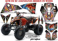 AMR Racing DECORO GRAPHIC KIT ATV KTM 450 505 525 SX XC ed-Hardy Pirates B