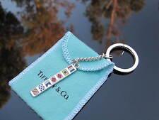 Tiffany & Co RARE Silver Enamel Nautical Key Chain Key Ring Keychain