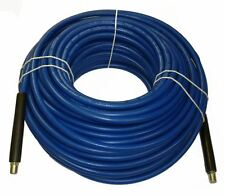 "1/4"" x 150' Blue Carpet Cleaning Solution Hose 3000 PSI"