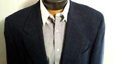 MANI Giorgio Armani Blue Two Button 100% Wool Light Jacket Coat Sz 43L NWOT