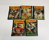 1977 Topps Football Mexican Wax Pack Wrappers Lot of 5 No Rips No Tears