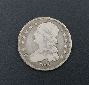 1832 Capped Bust Quarter Dollar Silver Coin 25c Free Shipping M1447