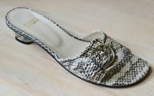 Stuart Weitzman Caliper Natural Rio Snakeskin Slides Shoes Size 7.5 N