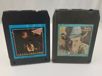 Country 8 Track Tapes Set of 2 Merle Haggard Back To The Barrooms George Jones