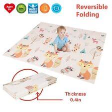 Baby Folding Reversible Crawling Large Mat Play Mats Tummy Time For Playroom