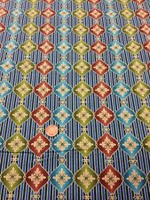 100% Cotton quinting craft Fabric Benartex Red Brown Stripes Green Blue