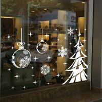 3D Christmas Tree Window Wall Sticker Merry Xmas Snowflake Tree Home Decals