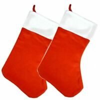 2 x Deluxe  Christmas Stocking   Xmas Stocking   50cm XLarge Santa Sock w/String