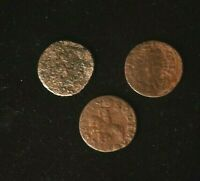 LOT OF 3 X Solidus Szelag Schilling Johann II Casimir 1648-1668 Poland Coin, F