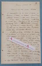 L.A.S 1868 Vienne Régiment 7è dragons Signature médecin à identifier - Lettre