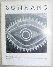 Auction Catalogue Bonhams Chelsea Tribal Art 10/10/91 African Art Oceania