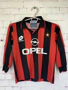 AC MILAN ITALY 1994 1995 HOME RARE JERSEY SHIRT FOOTBALL LOTTO ORIGINAL YOUNG