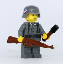 World War 2 German G43 Soldier WW2 Minifigure made with real LEGO(R) part