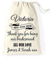 Personalised Wedding Day Gift Bag Bridesmaid Bride Present Vintage