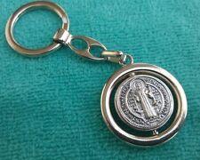 St Saint Benedict Key Chain Pendant Appendage Round Medal Medallion