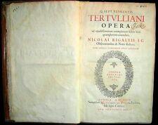 1634 Tertullian Opera - Works Rigault Manuscript Heretics Soul Christ Theology