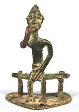 Art Africain - Figurine en Bronze Baoulé - Penseur - Méditation - 6 Cms ++++++++