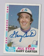 1982 TOPPS GARY CARTER SIGNED AUTOGRAPHED CARD MONTREAL EXPOS