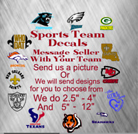 Monogram Vinyl Decal Sports Teams Sticker For Tumblers, Cups, Football Teams