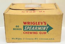 1961 Vintage Wrigley's Spearmint Chewing Gum Shipping Box Sign Original Rare