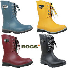 Bogs Wellington Boots Womens Amanda Laced Plush Lined Insulated Fashion 72103