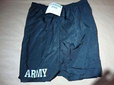 NEW Unicor US Army Physical Fitness PT Uniform Black Nylon Trunks Shorts Large