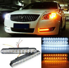 2X 30 LED Car Daytime Running Bulb DRL Daylight Lamp with Turn Lights Ship