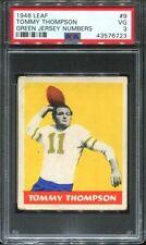 1948 Leaf #9 Tommy Thompson PSA 3 Eagles green jersey number variation