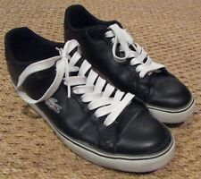 e489d42b3bda LACOSTE MARLING SPM Men s Low Casual Shoes Black Dark Grey White Sneaker  Size 9