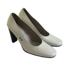 LOEWE IVORY CLASSIC LEATHER PUMPS