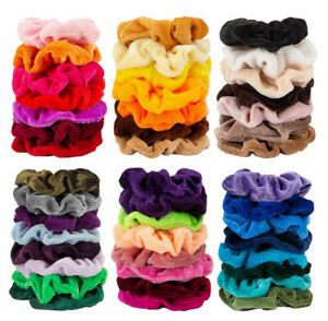 Wholesale Girls Women Elastic Hair Scrunchies Ponytail Holder Colorful Hair Band