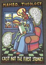 "Mambo Reg Mombassa Classic ""Theology Cast Not The First Stone"" 1994 Graphics Xl"