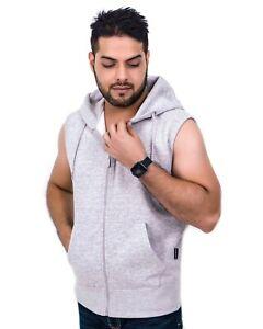 Mens Sleeveless Sweatshirt Hoodie Top Outerwear Big Plus S M L XL 2XL 3XL