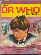 MEGA-RARE: Doctor Who Annual 1967 for 1968. Unclipped price tag!