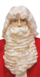 Santa Set Supreme White Wig & Beard With Mustache Christmas Laceys Wigs 004