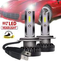 Mini 2Pcs H7 Phare LED Headlight 110W Voiture Feux Ampoule COB 6000K Blanc DRL
