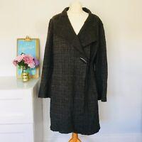 Stunning Ladies  cardigan-coat by OSKA,size 1 Oversized LagenLook Wool check